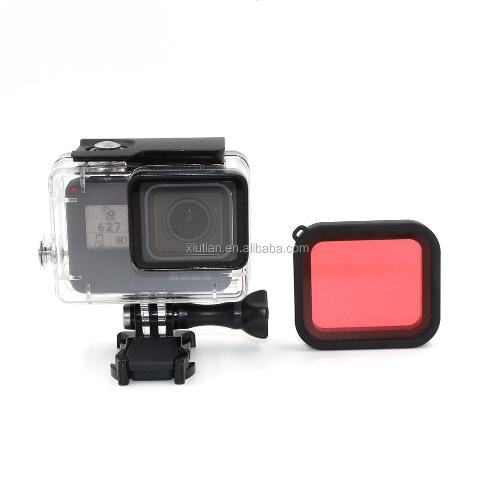 Red color Under Sea Filter for GoPro 5 Hero5 with Mounting Frame
