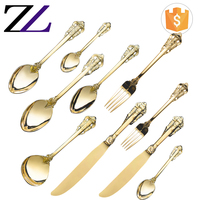 Desktop used catering equipment for sale cutipol different kinds of gold plated flatware wholesale