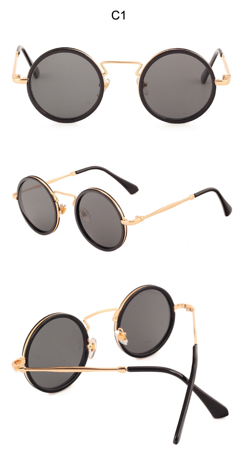 Newest Famous Brand Design Sunglasses Women Round Sunglasses Vintage Woman Sun glasses Female Oculos Feminino UV400 CC5078