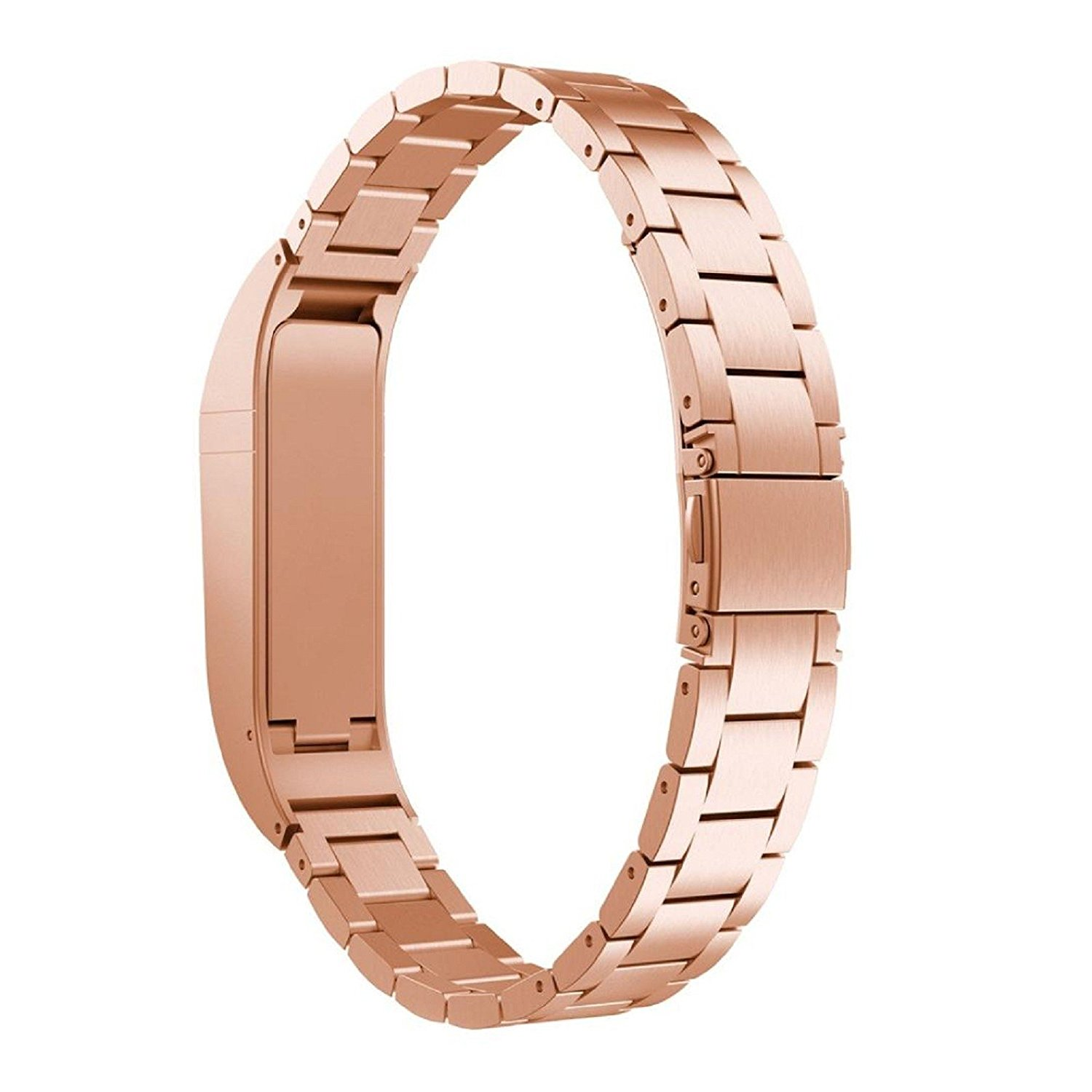 Owill Durable Stainless Steel Strap Wrist Band Replacement Bracelet For Fitbit Flex, Length:235MM (Rose Gold)