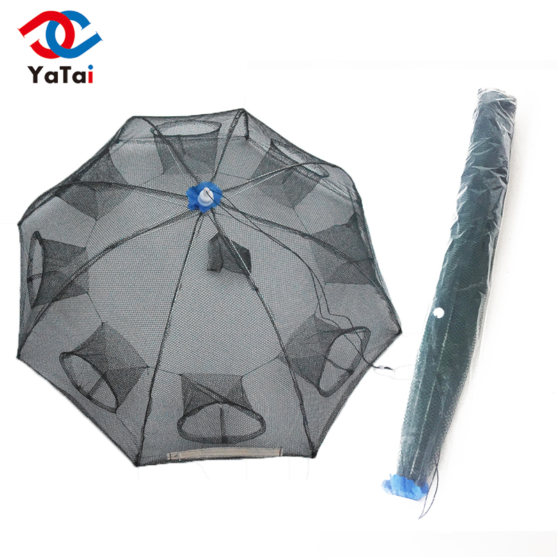 8 Side8 Holes Foldable automatic folding lobster cage umbrella fishing shrimp trap