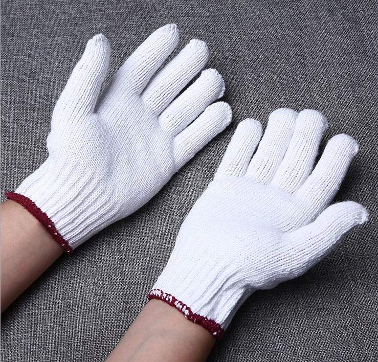 Cheap white cotton labor protection gloves / hand gloves manufacturer