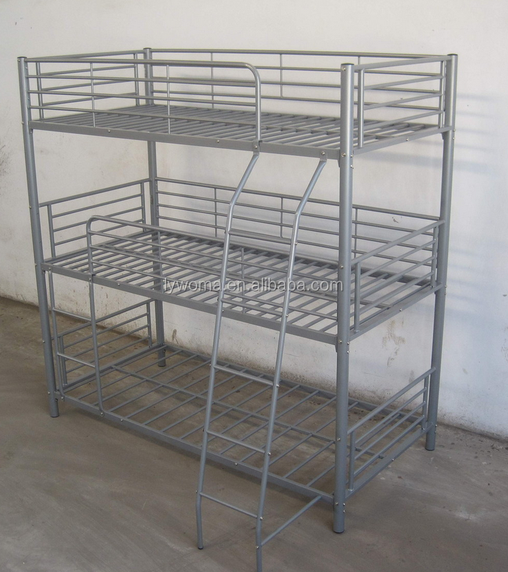Used cheap triple bunk bed for sale metal frame bunk beds for Metal bunk beds for sale cheap