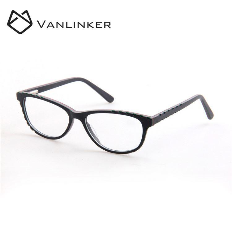 Clear Acrylic Lenses Kids Eyeglasses Frames Oval Shape Plastic ...