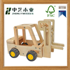 Natural handmade children education funny factory supply customized DIY wooden car models toy
