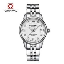 2016 Стразы, автоматические механические модные брендовые часы, женские повседневные роскошные часы со светящимся сапфиром из стали(Китай)