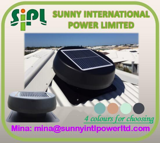 China Supplier High Quality Electric Solar Ventilation Fan Vent ...