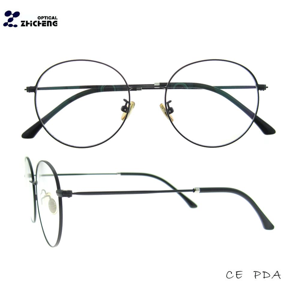 2018 moda negro oro ronda completo llanta gafas de Marco nuevo ...