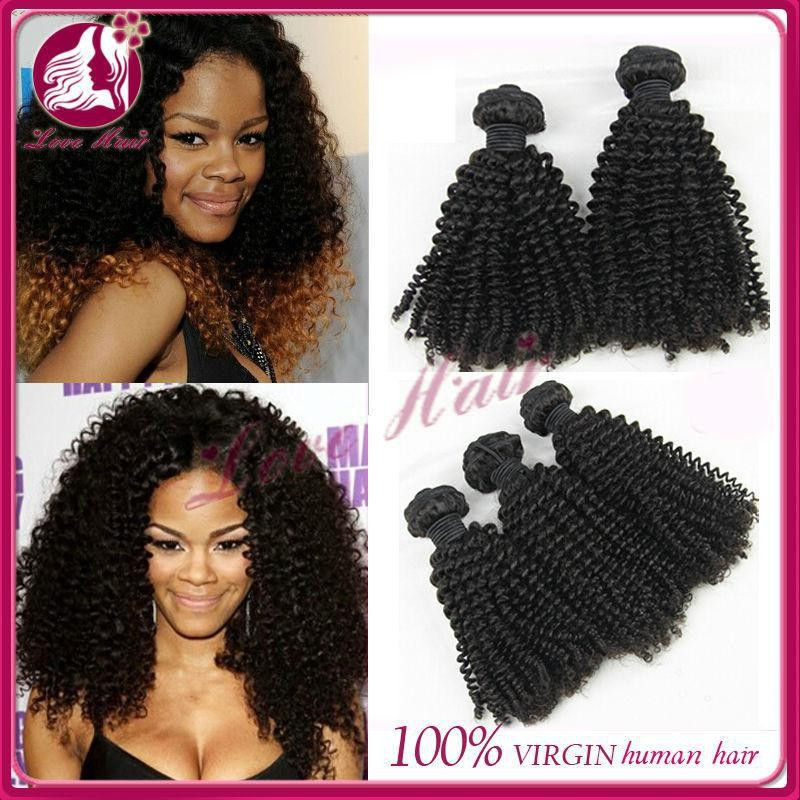 Factory Price High Quality Indian Remy Human Hair Kinky Curly Weave