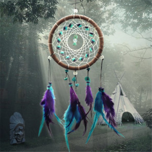 Chinese turquoise dream catcher supplies handmade crafts pendant creative gift