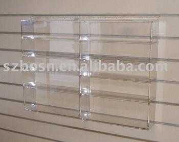 Wall Mounted Acrylic Display Shelf Plexiglass Book Stand
