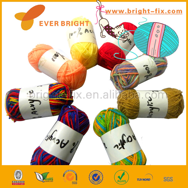 China producer top quality Art & craft supply yarn multi colors