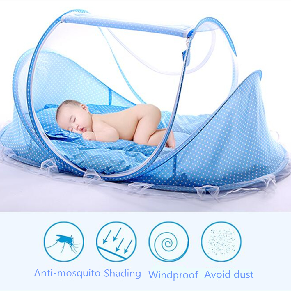 Back To Search Resultsmother & Kids Pink/blue 2018 New Baby Mosquito Bed Net Infants Sleeping Pad Pillow Yurt Bedspread Mosquito Net Collapsible Portable Crib Netting
