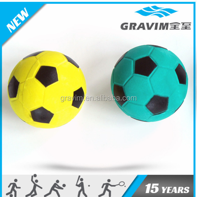 Football shaped dog foam rubber ball toy