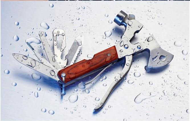 Многофункциональный безопасный ось молоток стекло выключатель ось saw нож штопор выживание кемпинг инструмент