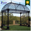 Custom Wrought Iron gazebo with swings on each end NT--WI018J
