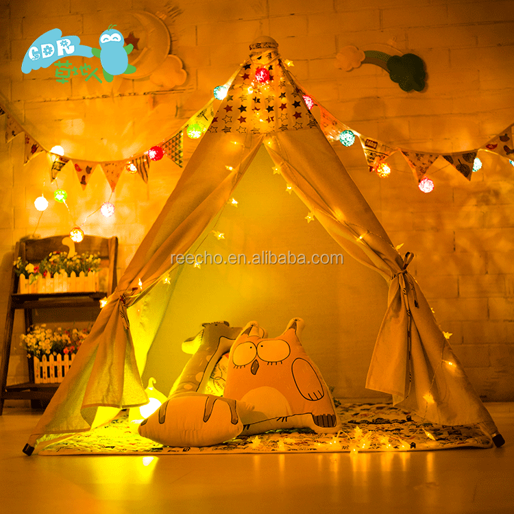 Promotional Custom Cotton Canvas Camping Tent For Family