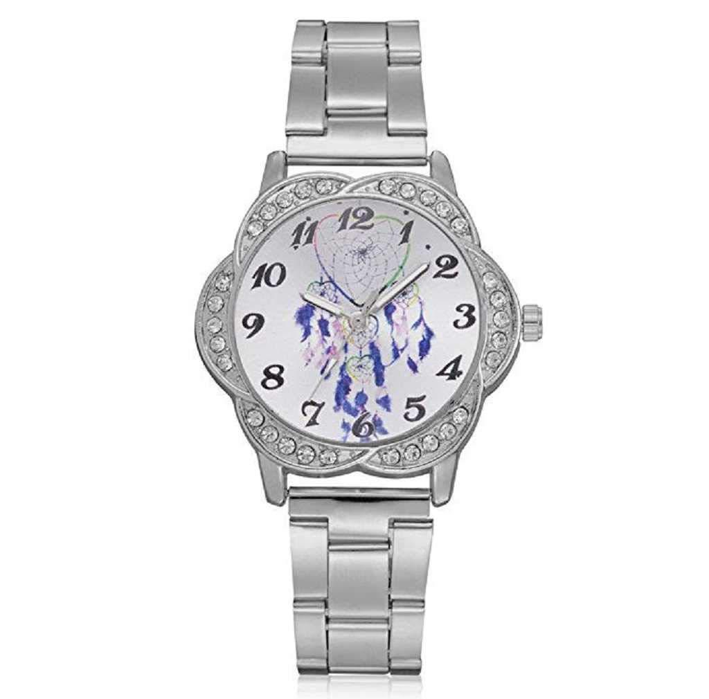 Clearance Sale! Womens Watches,ICHQ Fashion Ladies Dress Watches Fanmis Luxury Rhinestone Bracelet Quartz Stainless Steel Alloy Watch, Elegant Lady Watches Female Watches on Sale (Sliver)