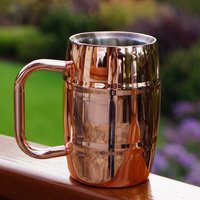 17oz double wall stainless steel beer mugs, 17oz insulated beer mug for keep cooling, Double Barrel Insulated Beer/Coffee Mug