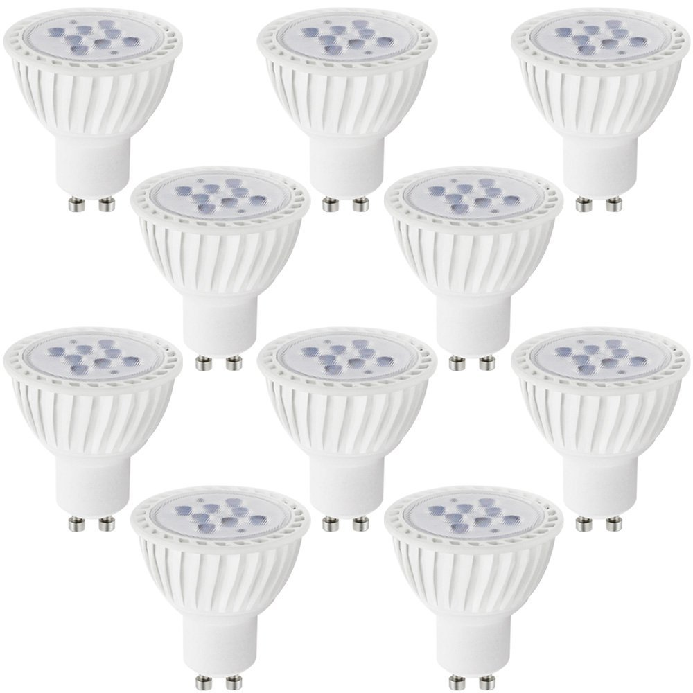 10 PACK Dimmable MR16 GU10 LED Light Bulb, 7W (60W Equivalent), 5000K Daylight, 36° Beam Angle, 500Lm, UL-listed, 110V for Track Lighting, Recessed Light, 2 YEARS WARRANTY