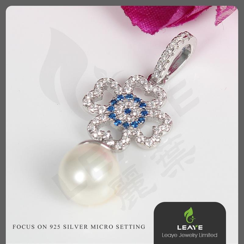 New design European and American style silver flower necklace pendants