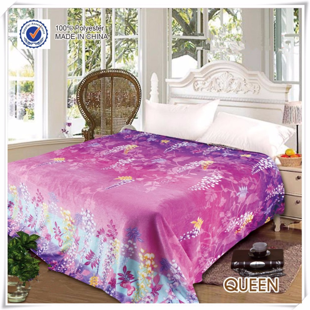Custom 100% Polyester Printed Polar Fleece Blanket