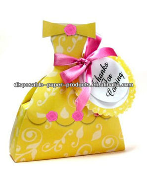 BEAUTY And The BEAST Rare BELLE Birthday Party Supplies Princess Belle Dress Boxes Favors