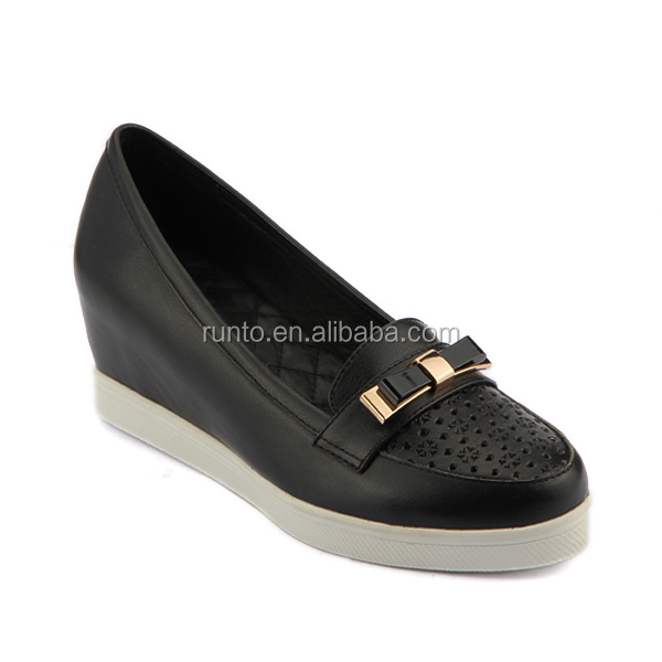 now model soft and comfortable women shoes height increasing thick sole elevator shoes