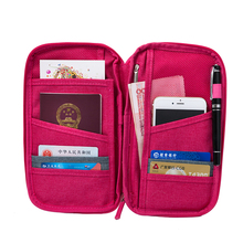 Multifunction travel wallet passport cover documents card holder package ticket credit card bag organizer passport holder