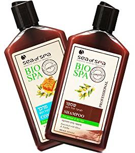 Sea Of Spa Dead Sea Minerals - Bio Spa - Conditioner & Shampoo for Normal & Dry Hair enriched with Olive oil, Jojoba & Honey (2 Pack)