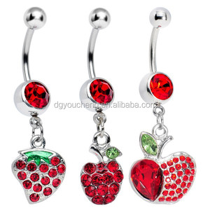 Dangle Navel Ring Belly Piercing Mixed Designs