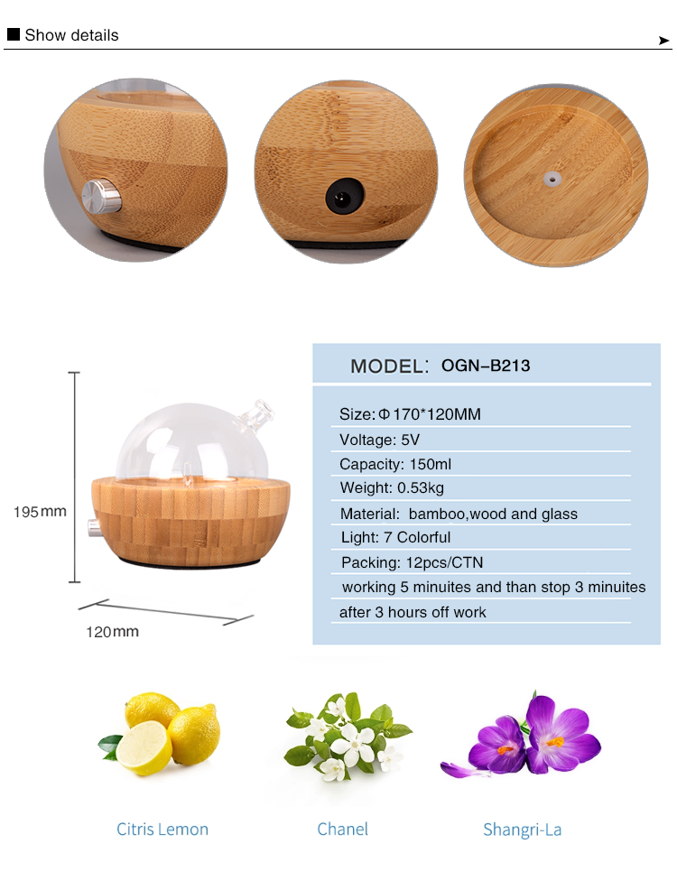 New product ideas 2019 home use mini aroma diffuser wood glass aroma diffuser commercial scent diffuser