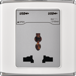Shopping Mall Euro Style Wall Socket Electric Switch Socket Bangladesh