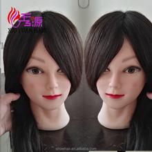 pas cher cheveux quipement de salon femelle mannequin tte avec 16 pouces vrais cheveux humains pour - Coloration Pas Cher Coiffeur