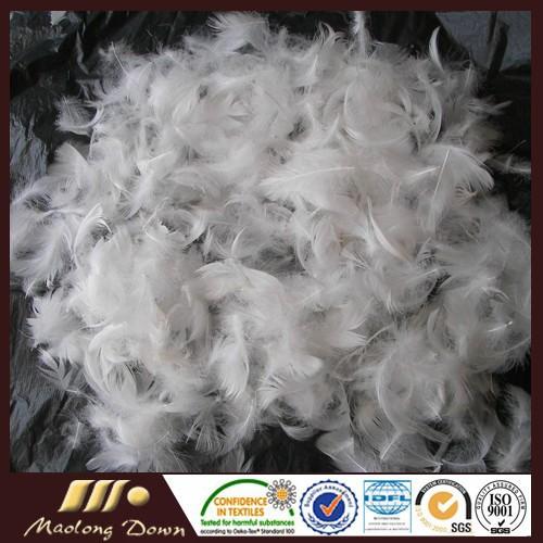 Blanco lavado de pluma de ganso 2 4cm para la venta cojines