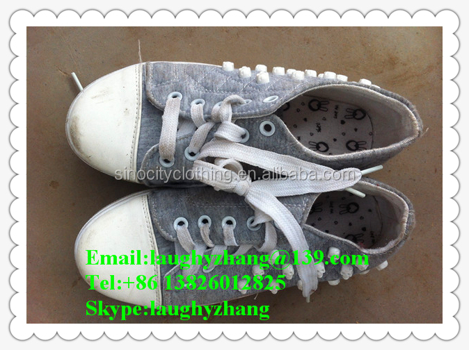 Africa container used athletic shoes no defective soccer shoes from China