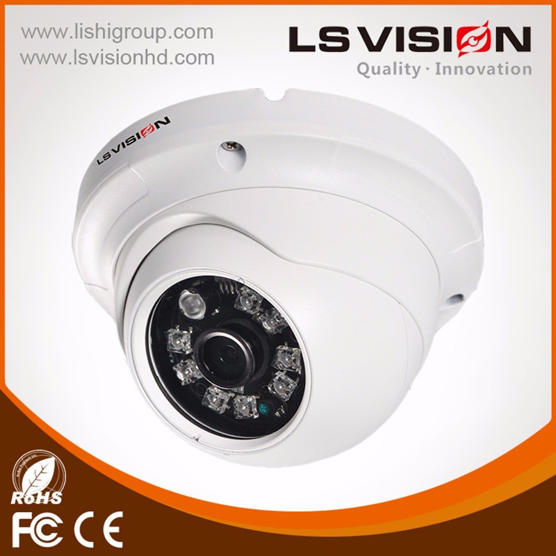 LS VISION 720p high resolution waterproof and weatherproof 4 in 1 ahd/tvi/cvi/analog hybrid dome camera