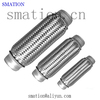 stainless steel 201 SS304 bellows muffler auto car flexible exhaust pipe with joints