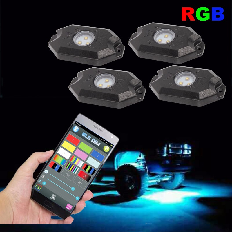 High power 9W Under car body light single color led rock light