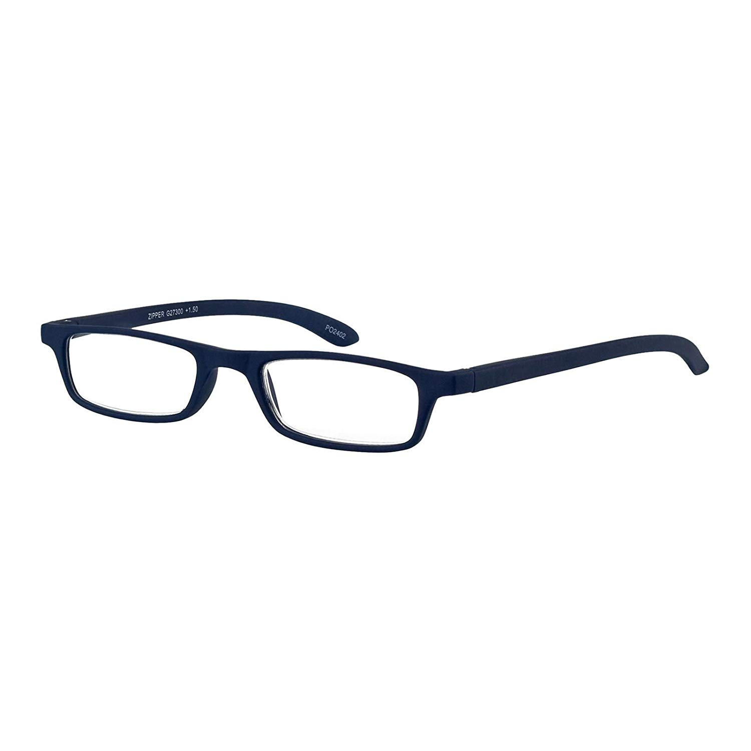 f097838cf0 Get Quotations · I NEED YOU Rectangular Reading Glasses Blue Zipper Designer  Frames For Men   Women Spring Hinge