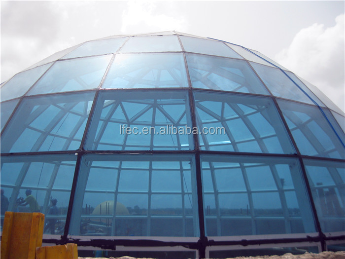Glass Dome with Light Steel Space Frame Structure