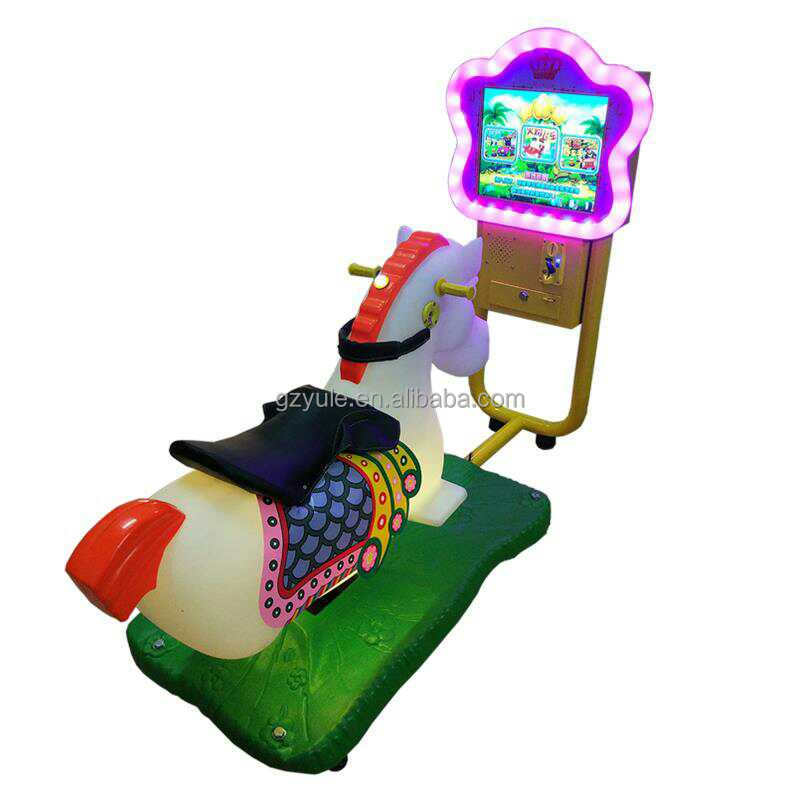 Amusement kiddie ride 3d racing horse Coin operated kiddie rides game machines for children