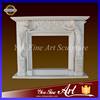 Natural Cheap Contemporary White Marble Fireplace Surrounding