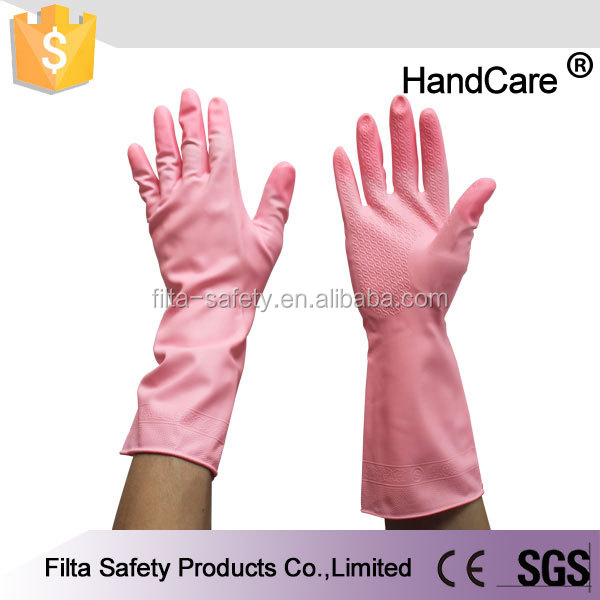 Cleaning/Household/Gardening Long Cuff Latex Gloves FLCG001