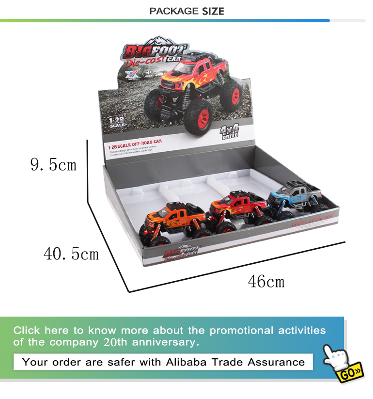 Kids vehicle set 1:28 scale metal mini pull back climbing diecast toys car