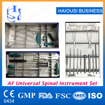Af Uss Spinal Fixaion System Surgical Instrument Spine Instruments Set -  Buy Spinal Surgical Instruments,Spine Orthopedics Implants,Spinal Surgical