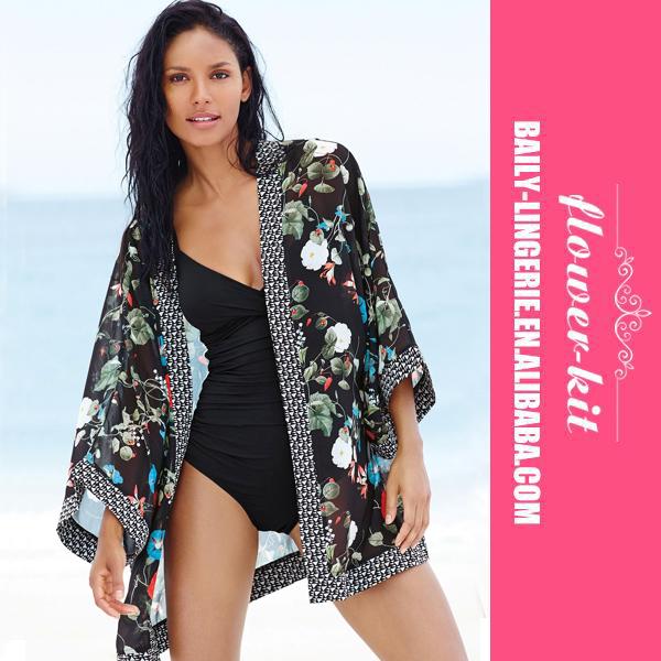 Citaten Zomer Kimono : Zomer strand vrouwen print chiffon blouse bloemen kimono