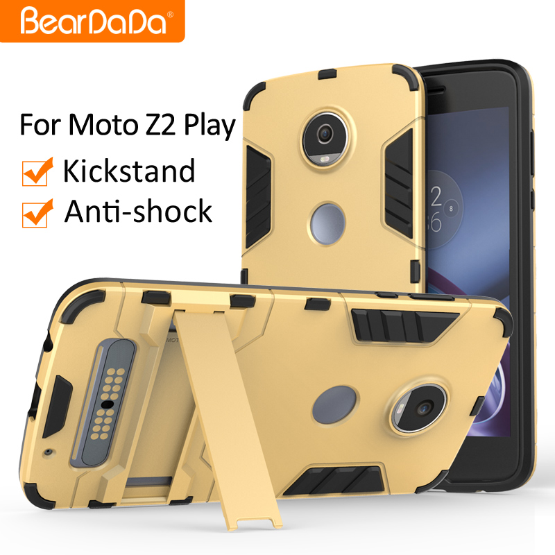 Anti shock kickstand <strong>cover</strong> for motorola moto z2 play case