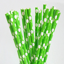 25CT Lime Green 7.76'' Eco-Friendly Biodegradable Bar Type and Drinking straw for Party Supply 30509