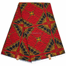 New Beautiful Umbrella Patterns Red Color african wax fabric Dresses Styles 2016